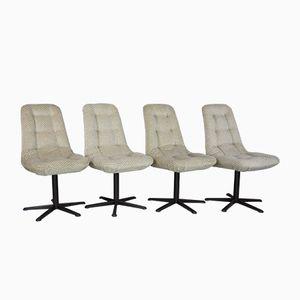 Velvet Chairs, 1970s, Set of 4