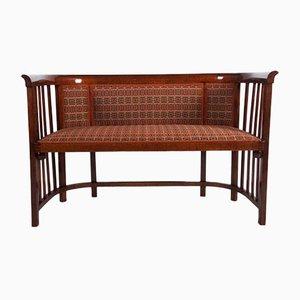Canapé Antique en Bois Courbé par Josef Hoffmann pour Thonet