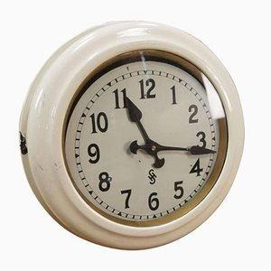 Art Deco Factory Wall Clock from Siemens & Halske