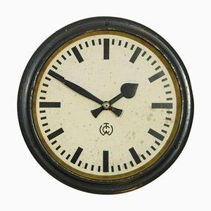 Horloge Murale Industrielle de Gare de C.T. Wagner, 1950s