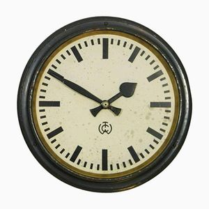 Industrial Station Wall Clock from C.T. Wagner, 1950s
