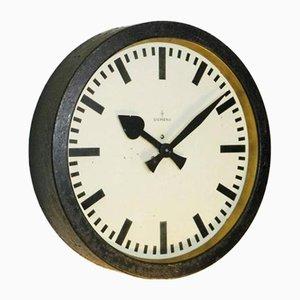 Indutstrial Factory Clock from Siemens & Halske, 1950s
