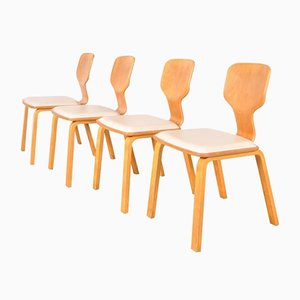 Japanese T-0635B Dining Chairs by Katsuo Matsumura for Tendo, 1982, Set of 4