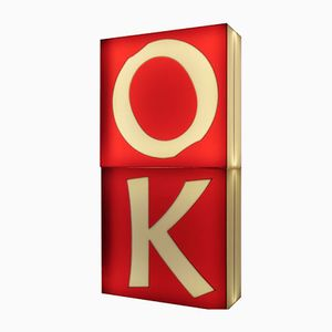 Large Mid-Century Three-Dimensional Illuminated Letters O & K