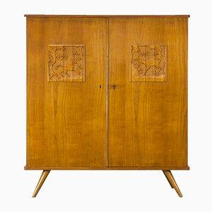 Carved Animals Cabinet by Louis van Teeffelen for WéBé