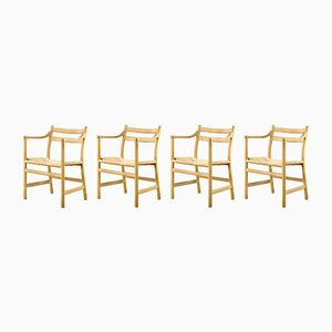 CH46 Dining Chairs by Hans J. Wegner for Carl Hansen & Son, 1950s, Set of 4