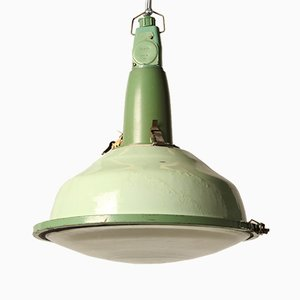 Vintage Lime Green Russian Hanging Lamp
