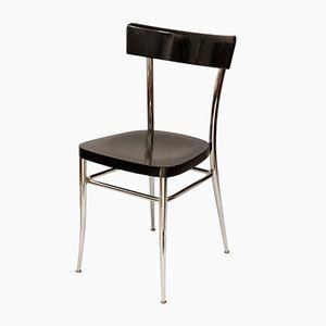 Vintage Stuhl aus Holz und Chrom