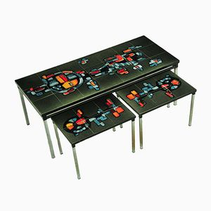 Vintage Belgian Nesting Tables by ADRI
