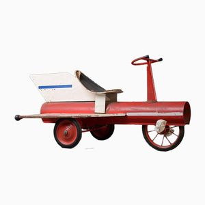 Vintage Industrial Rocket Pedal Car, 1950s