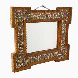 Antiker Französischer Volkskunst Spiegel