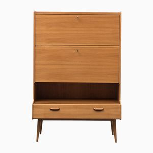 Walnut Highboard with Secretary, 1950s