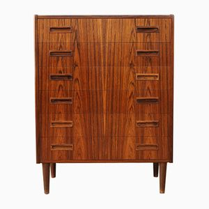Vintage Tall Rosewood Chest of Drawers