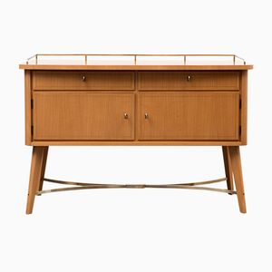 Chest of Drawers with Brass Details, 1950s