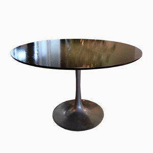 Vintage Wood and Metal Tulip Dining Table