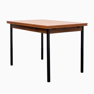 Extendable Cubic Teak Dining Table, 1960s
