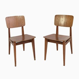 French CD Chairs by Marcel Gascoin for Arhec, 1950s, Set of 2