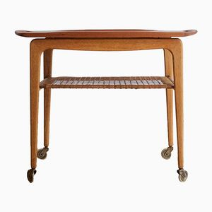 Teak and Oak Tray Cart by Johannes Andersen for CFC, 1960s