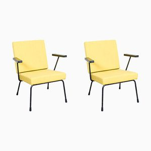 Yellow Model 1401 Armchairs by Wim Rietveld for Gispen, 1950s, Set of 2