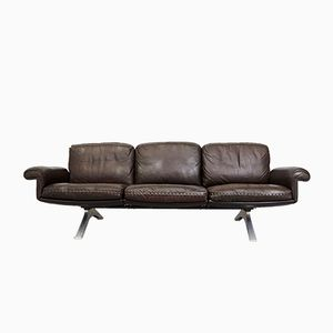 Vintage Dark Brown Leather DS31 Sofa from de Sede