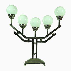 Vintage Art Deco Lampe mit Fünf Kugeln