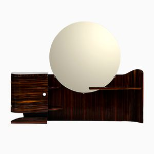 Vintage Art Deco Macassar Ebony Vanity Table