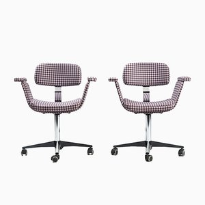 Vintage Swivel Desk Chairs, Set of 2
