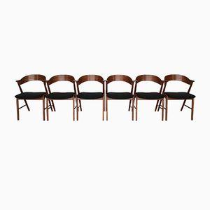 Chaises de Salon Mid-Century en Teck par Kai Kristiansen pour Korup Stolefabrik, Set de 6
