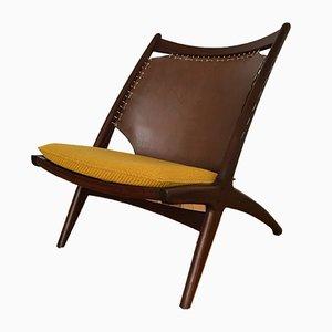 Mid-Century Norwegian Krysset Lounge Chair by Fredrik Kayser for Gustav Bahus