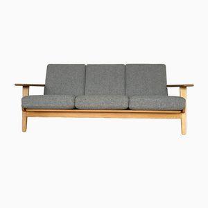 Dänisches Mid-Century GE-290 Eichenholz Plank Sofa von Hans J. Wegner für Getama