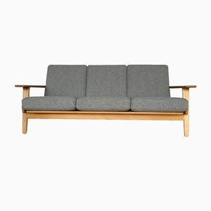 Mid-Century Danish GE-290 Oak Plank Sofa by Hans J. Wegner for Getama