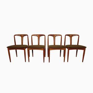 Chaises de Salon Vintage Juliane en Teck par Johannes Andersen pour Uldum, Set de 4
