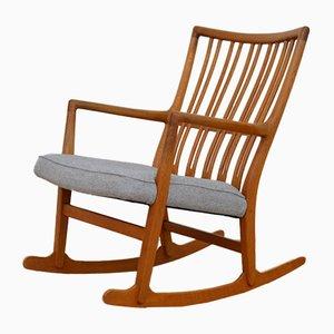 Chaise à Bascule Vintage ML-33 par Hans J. Wegner pour Mikael Lauersen