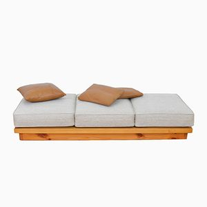 Vintage Wooden Daybed with Loose Cushion