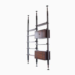 Rosewood Floor to Ceiling Wall Unit from Stildomus, 1960s
