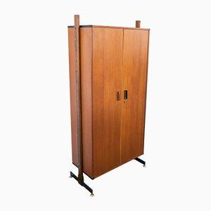 Italian Teak, Iron & Brass Cabinet, 1950s