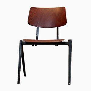 Chaise de Salon Empilable Vintage S16 Industrielle de Galvanitas, 1960s