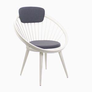 Vintage Circle Chair Stuhl von Yngve Ekstrom für Swedese