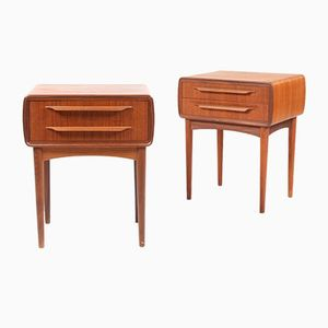 Danish Teak Night Stands by Johannes Andersen, 1950s, Set of 2