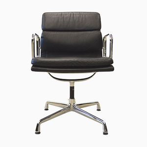 EA208 Alu Soft Pad Office Chairs by Charles & Ray Eames for Vitra, 1980s, Set of 8