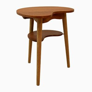 Danish Teak Side Table with Cup Holder, 1960s