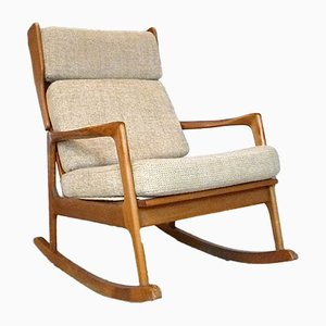 Solid Wooden Rocking Chair, 1960s