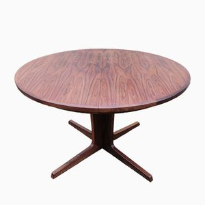 Danish Round Rosewood Table from BPS M, 1960s
