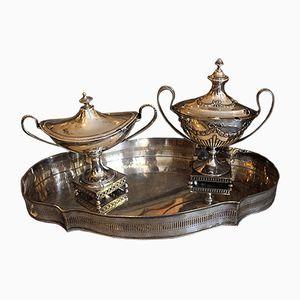 Antikes Dekoratives Schwedisches Silber Service