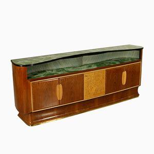 Vintage Sideboard mit Palisander Furnier & Messing, 1950er