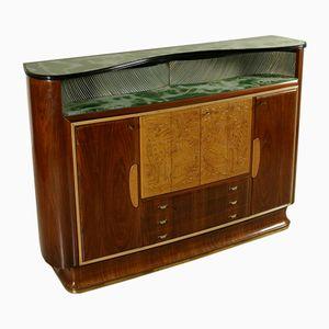 Vintage Italian Rosewood Veneer Bar Cabinet, 1950s