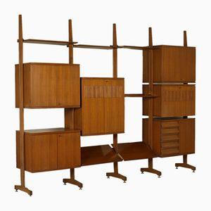 Teak Veneer Cabinet with Modular Elements, 1960s