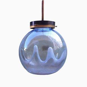 Italienische Vintage Murano Glas Hängelampe von Toni Zuccheri für Venini