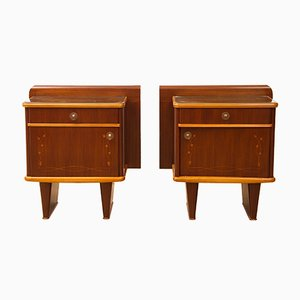 Italian Bedside Cabinets from Mario Ballini, 1960s, Set of 2