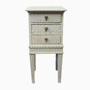 Small Gustavian Style Grey Painted Chest of Drawers, 1920s